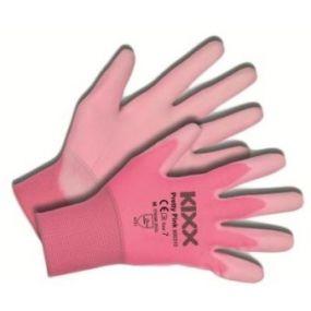 Tuinhandschoen KIXX Pretty Pink maat M ofwel 8