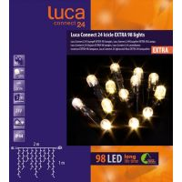Luca connect 24 led icicle lights 98 lampjes - afbeelding 2