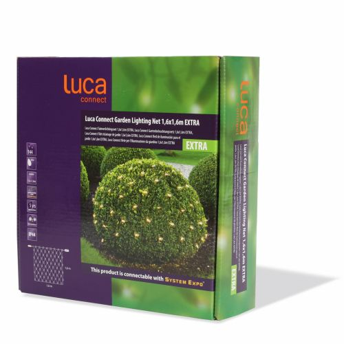 Luca connect xp Net clear 144 lampjes 1,6x1,6m - afbeelding 2