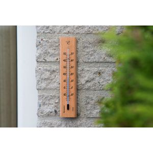 Nature muurthermometer hout 19cm - afbeelding 2