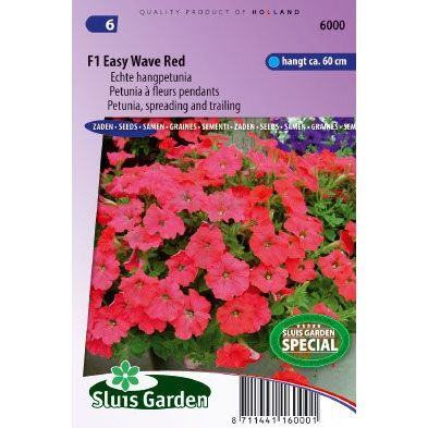 Petunia zaden hybrida f1 wave red