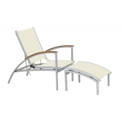 Serpens Triniti deckchair / ligstoel wit