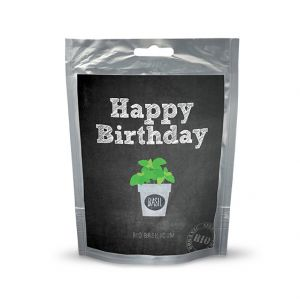 Seeds en wishes BIO Happy Birthday basilicum