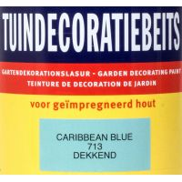 Tuindecoratiebeits 713 carribbean blue 750 ml