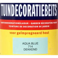Tuindecoratiebeits 714 aqua blue 750 ml