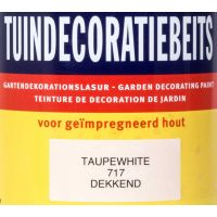 Tuindecoratiebeits 717 taupe white 750 ml